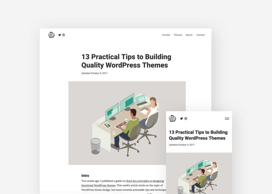 What's new with the Tabor WordPress theme
