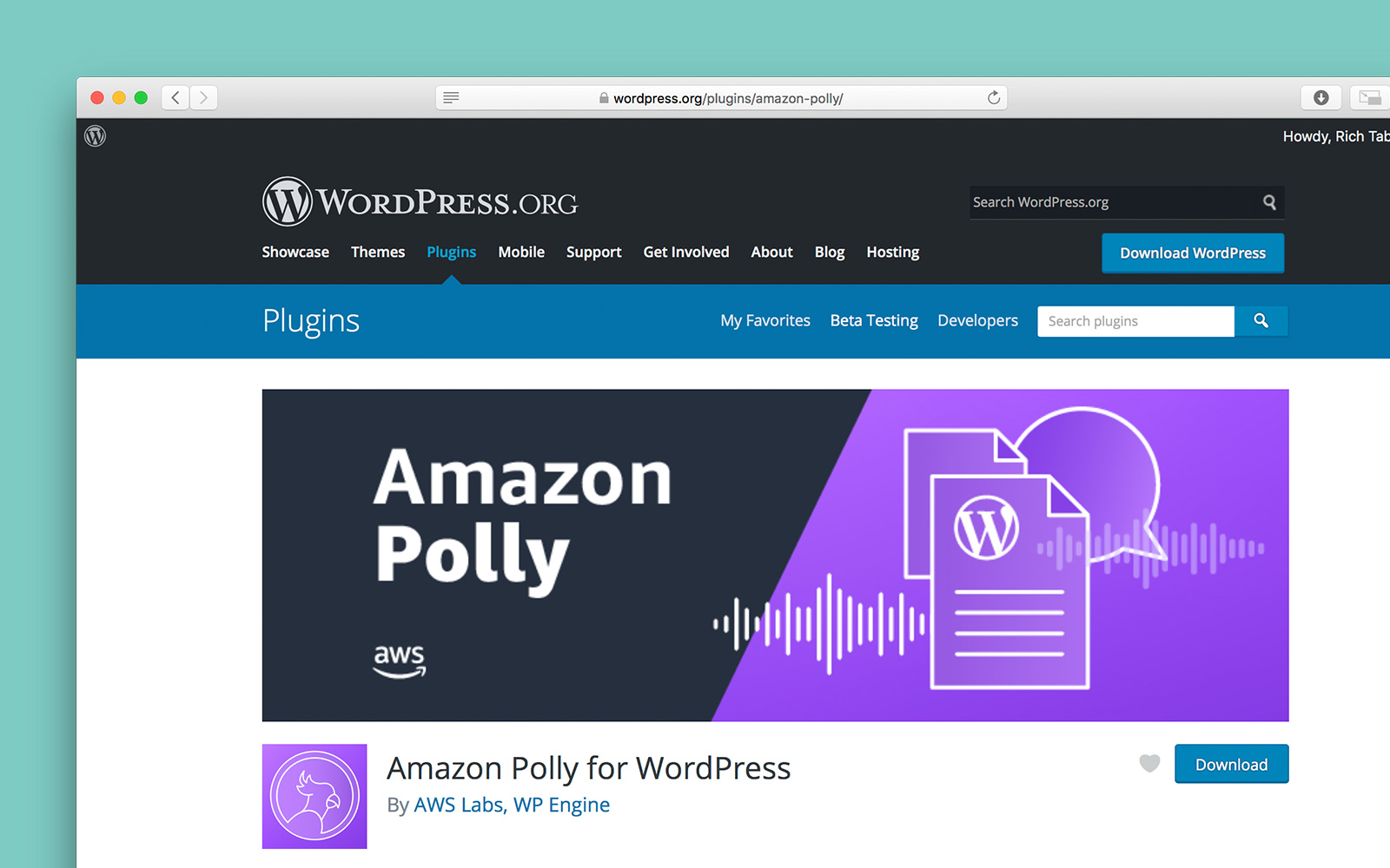 Download the Amazon Polly for WordPress plugin on WordPress.org
