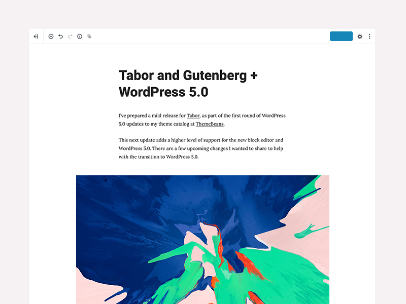 Tabor, a ThemeBeans WordPress theme for Writers and Bloggers