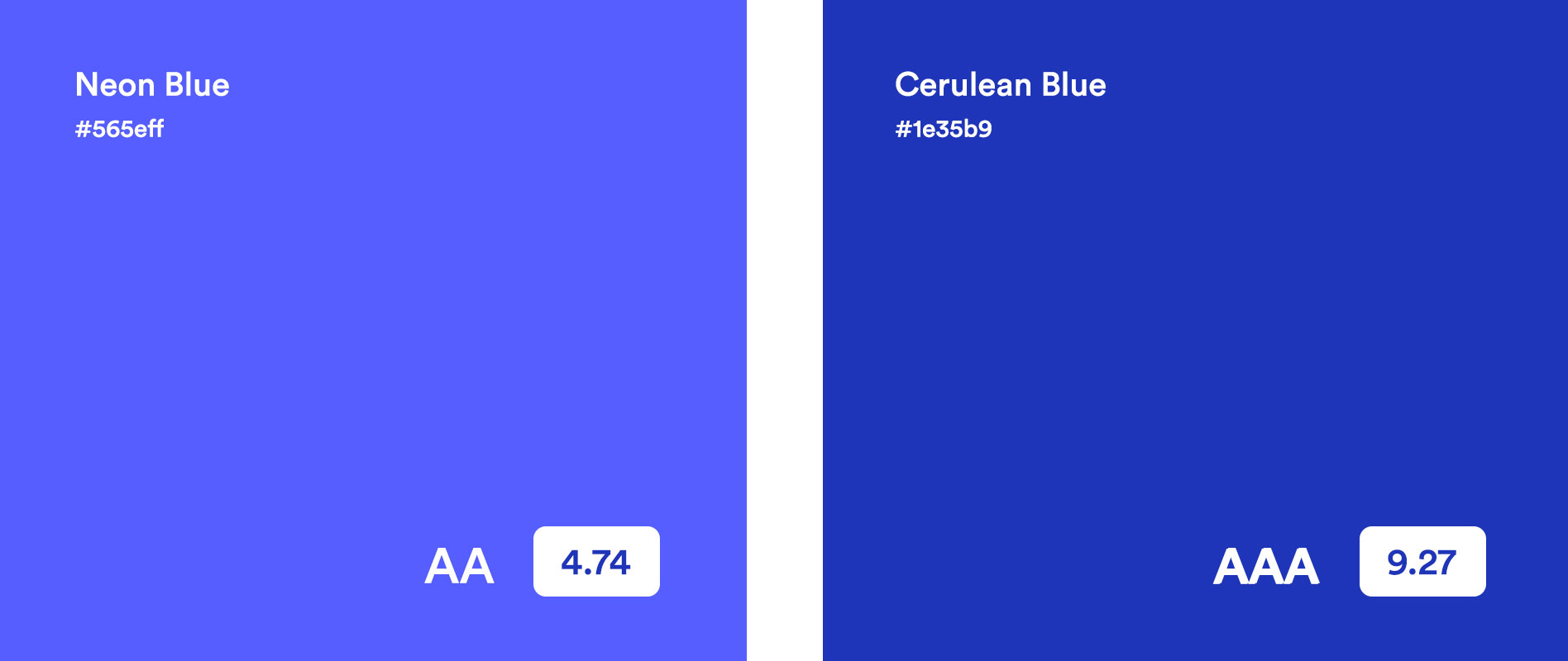 Comparing the new primary color for CoBlocks with the old.